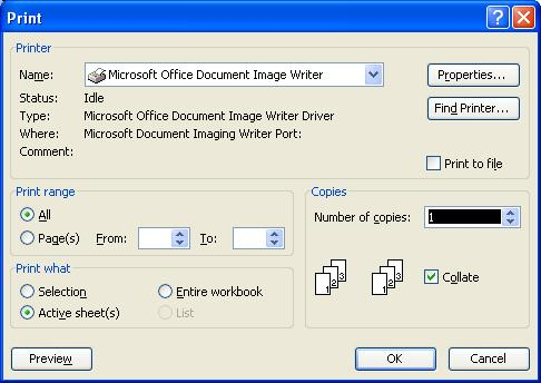 Excel Open Print Dilog Box By Shortcut Keys Ctrl P