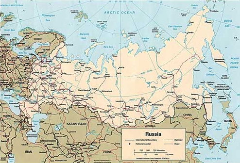 Rusija Karta Gradova Karta
