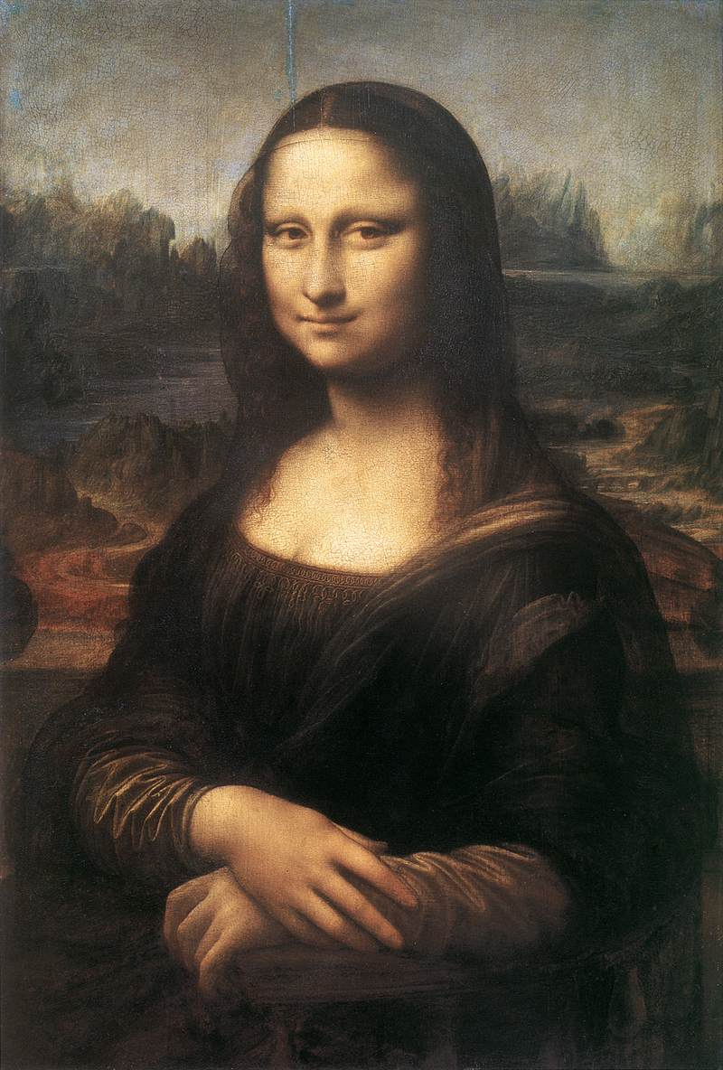 Leonardo da Vinci Leonardo%20-%20monalisa%20(La%20Gioconda)%201503-05%20Oil%20on%20panel,%2077%20x%2053%20cm