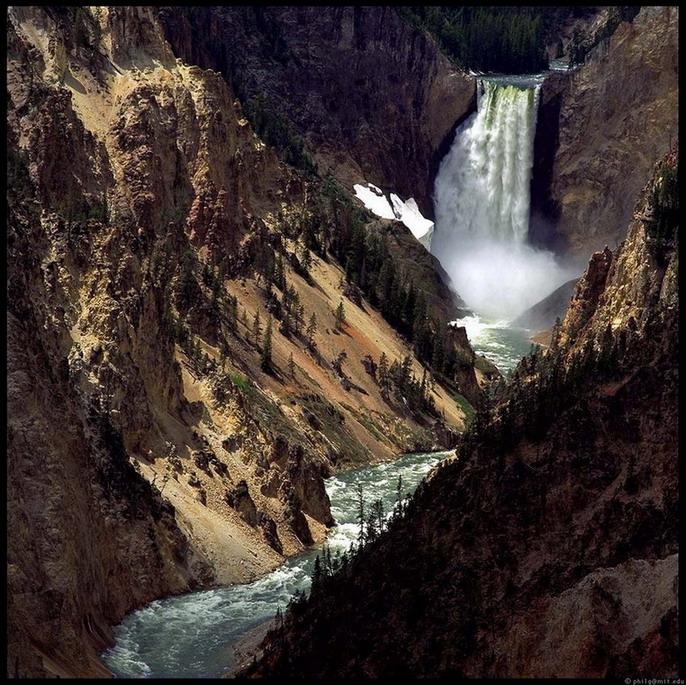 Sjedinjene Američke Države Yellowstone-falls