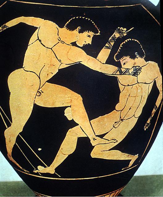 круглые, борцы рисунок на древнегреческой вазе сделать смоки-айс по-настоящему