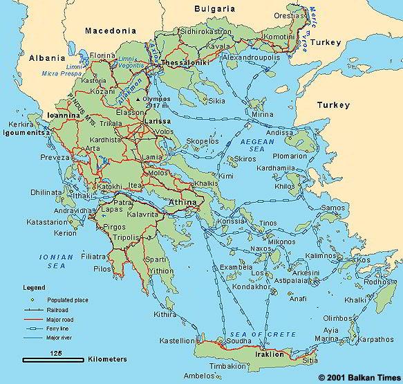 Geografska Karta Grcke Superjoden